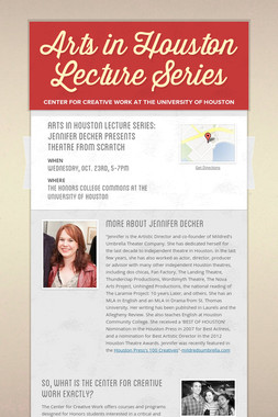 Arts in Houston Lecture Series