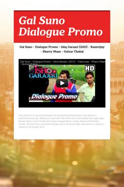 Gal Suno Dialogue Promo