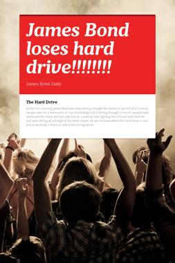 James Bond loses hard drive!!!!!!!!