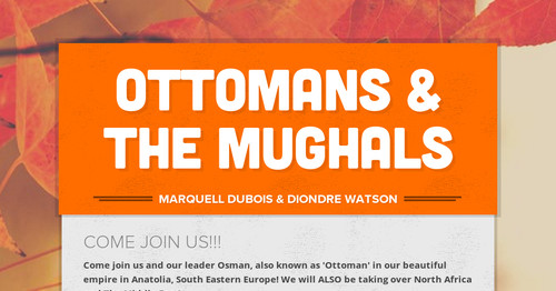 Ottomans & the Mughals