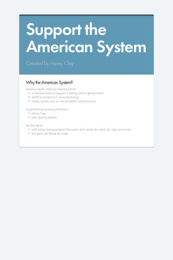Support the American System