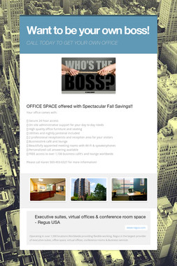 Want to be your own boss!