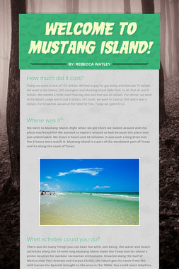 Welcome to Mustang Island!