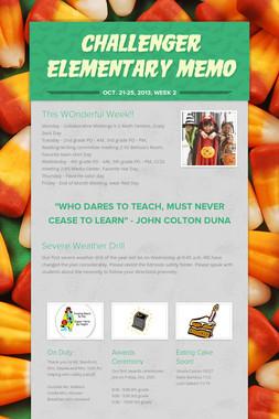 Challenger Elementary Memo
