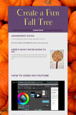 Create a Fun Fall Tree
