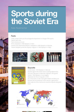 Sports during the Soviet Era