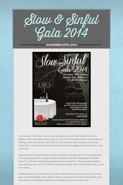Slow & Sinful Gala 2014