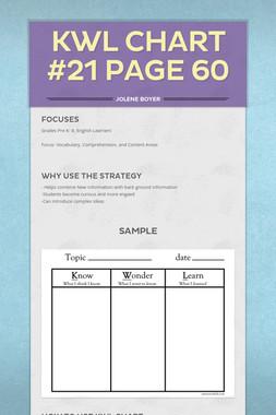KWL Chart #21 Page 60