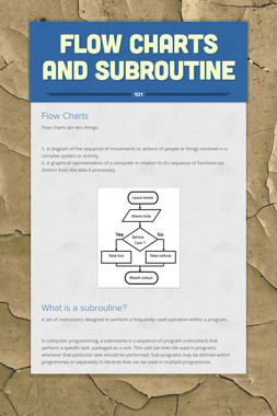 Flow Charts and Subroutine