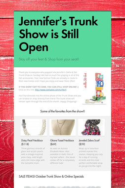 Jennifer's Trunk Show is Still Open