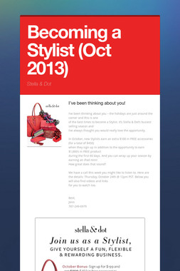 Becoming a Stylist (Oct 2013)