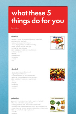 what these 5 things do for you