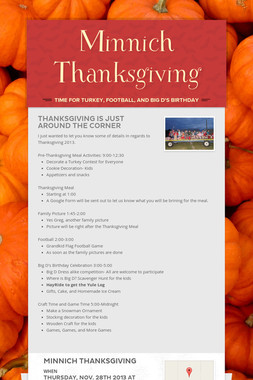 Minnich Thanksgiving