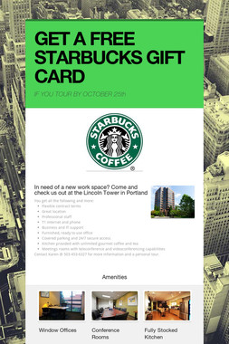 GET A FREE STARBUCKS GIFT CARD