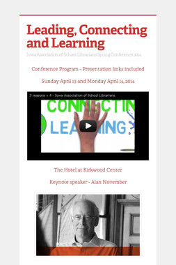 Leading, Connecting and Learning