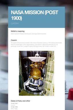 NASA MISSION (POST 1900)