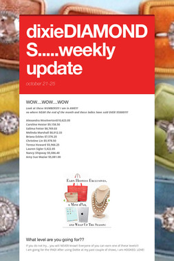 dixieDIAMONDS.....weekly update