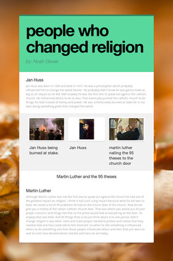 people who changed religion
