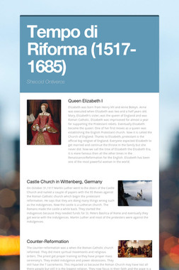 Tempo di Riforma (1517-1685)