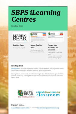 SBPS iLearning Centres