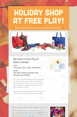 Holiday Shop at Free Play!