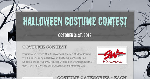 halloween costume contest smore newsletters