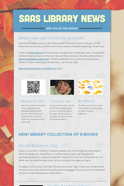 SAAS Library News