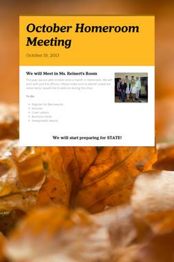 October Homeroom Meeting