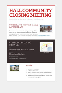 HALL COMMUNITY CLOSING MEETING