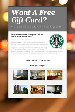 Want A Free Gift Card?