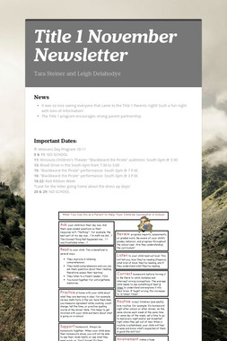 Title 1 November Newsletter