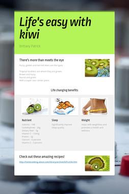 Life's easy with kiwi