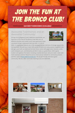 Join the fun at The Bronco Club!