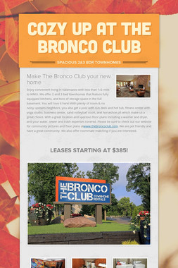 Cozy up at the Bronco Club