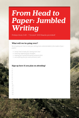 From Head to Paper: Jumbled Writing