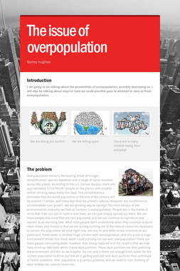 The issue of overpopulation