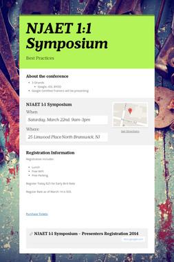 NJAET 1:1 Symposium