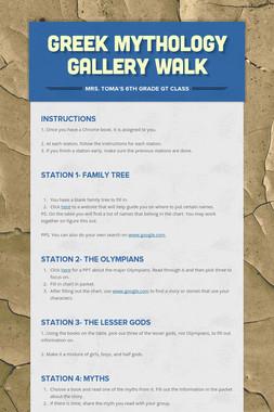 Greek Mythology Gallery Walk