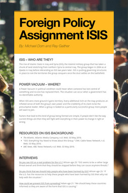 Foreign Policy Assignment ISIS