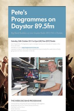 Pete's Programmes on Daystar 89.5fm