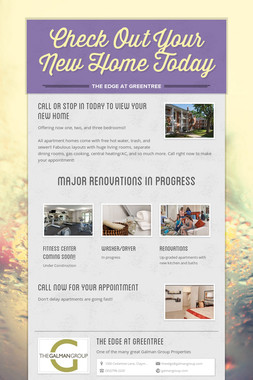 Check Out Your New Home Today