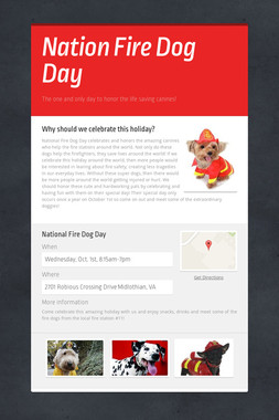 Nation Fire Dog Day