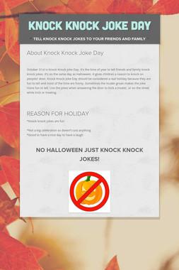 Knock Knock Joke Day