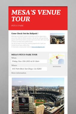 MESA'S VENUE TOUR