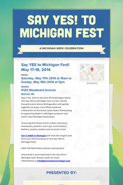Say YES! to Michigan Fest