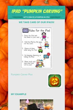 "iPad ""Pumpkin Carving"""