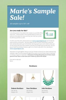Marie's Sample Sale!