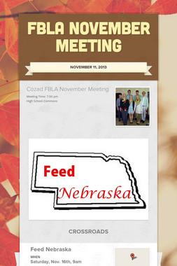 FBLA November Meeting