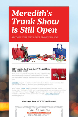Meredith's Trunk Show is Still Open