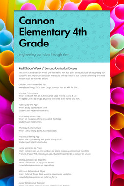 Cannon Elementary 4th Grade